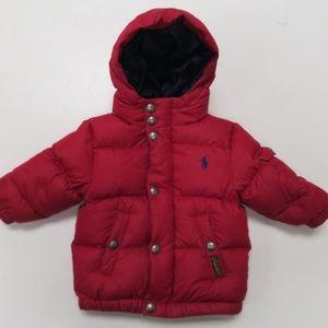 Polo Ralph Lauren Toddler Red Down Puffer Jacket